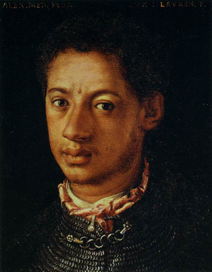 Exotic Alessandro-de-Medici.-Duke-of-Florence.-Painting-in-the-Uffizi-Gallery-Florence