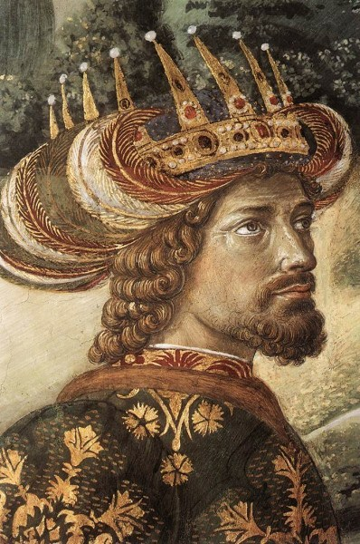arab king hottie Benozzo+Gozzoli+(Italian+early+Renaissance+painter,++c+1421–1497)+Scenes+from+the+Procession+of+the+Magi,++Detail+of+the+Middle+King+on+South+wall+of+Chapel,+Palazzo+Medici-Riccardi,+Florence+1459